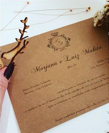Convite de Casamento ou Identidade Visual - Rústico Brasão [Artes Digitais]