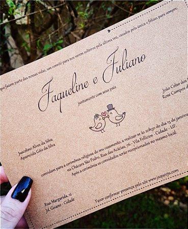Convite de Casamento ou Identidade Visual - Rústico Passarinhos [Artes Digitais]