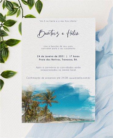 Convite de Casamento ou Identidade Visual - Local do Evento em Aquarela Digital II [Artes Digitais]