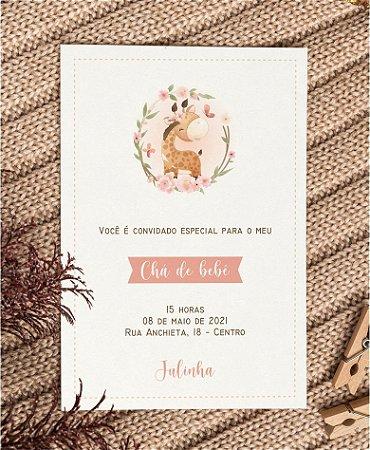 Convite Chá de Bebê ou Identidade Visual - Girafinha [Artes Digitais]