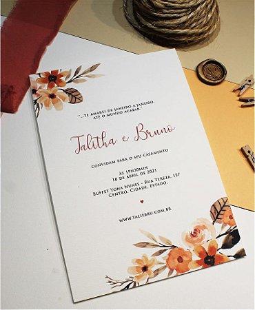 Convite de Casamento ou Identidade Visual - Terracota [Artes Digitais]