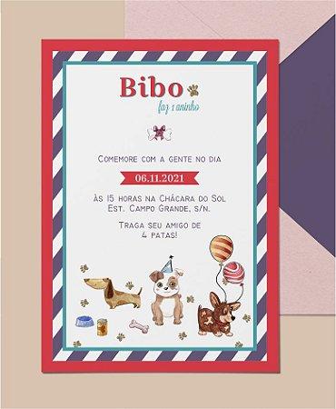 Convite Aniversário Pet ou Identidade Visual - Dog Bexiga [Artes Digitais]