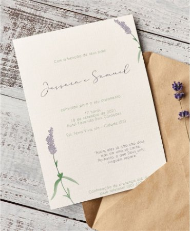 Identidade visual: artes avulsas, kits ou convite de casamento - lavanda minimalista [artes digitais]