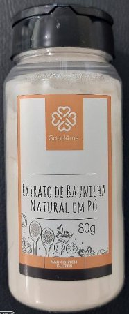 Extrato de Baunilha Natural em Pó - 80g