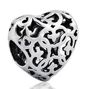 Berloque Separador Coração Arabesco em Prata 925 - Linha Dreams - Linha Dreams