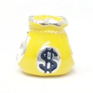 Berloque Saco de Dinheiro em Prata 925 com Resina - Linha Dreams