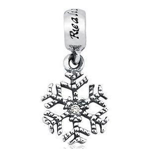 Berloque Floco de Neve em Prata 925 com Zircônia - Linha Dreams