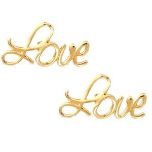 Brinco Love em Ouro Amarelo 18K
