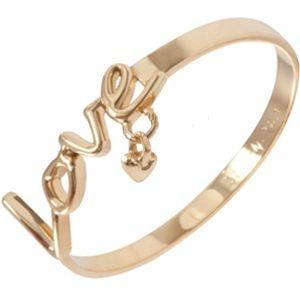 Anel Love em Ouro 18k Amarelo  com Pingente de Coração