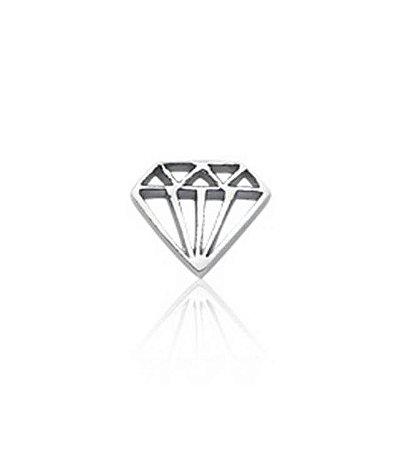 Mini Berloque Diamante em Prata 925