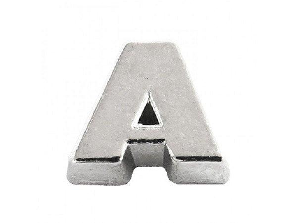 Mini Berloque Letra A em Prata 925