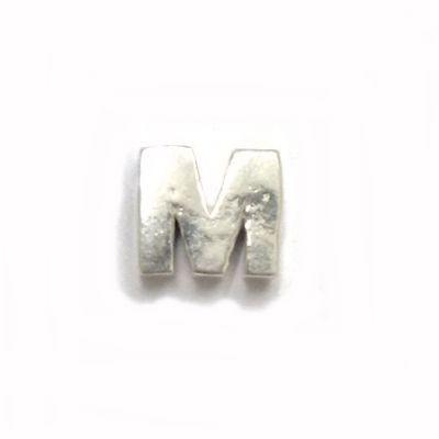 Mini Berloque Letra M em Prata 925