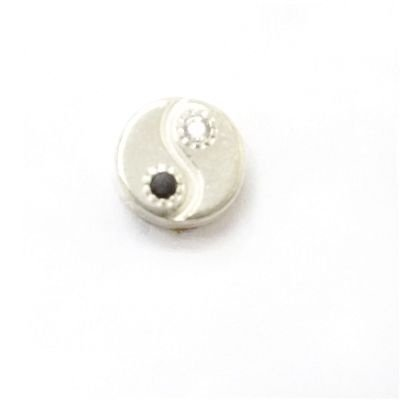 Mini Berloque Yin Yang em Prata 925