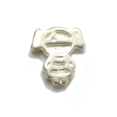 Mini Berloque Menina em Prata 925