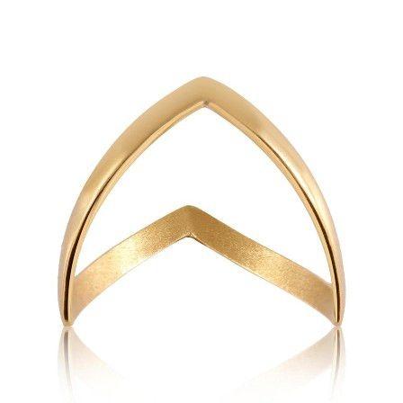 Anel Asa Delta em Ouro Amarelo 18k