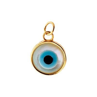 40488535c7cdf Pingente Olho Grego em Ouro Amarelo 18k com Madrepérola - RS Metais ...