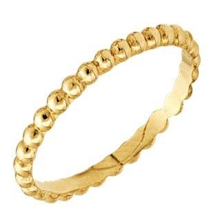 Anel Dreams com Aro de Bolinhas em Ouro Amarelo 18k