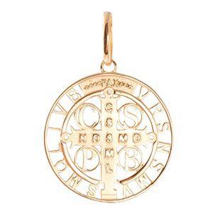 Medalha São bento em Ouro Amarelo 18k