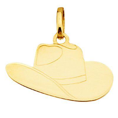 Pingente Chapéu de Cowboy em Ouro Amarelo 18K
