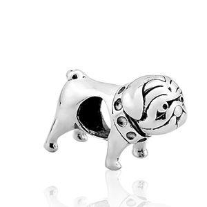 Berloque Bulldog Inglês em Prata 925 - Linha Dreams