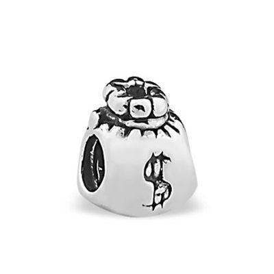 Berloque Saco de Dinheiro em Prata 925