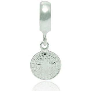 Berloque Medalha de São Bento em Prata 925