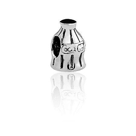 Berloque Garrafa de Coca-Cola em Prata 925 - Linha Dreams