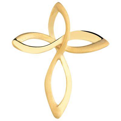 Pingente de Crucifixo Infinito em Ouro 18k