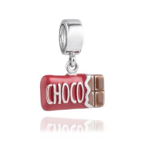 Berloque Barra de Chocolate em Prata 925