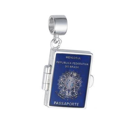 Berloque Passaporte em Prata 925