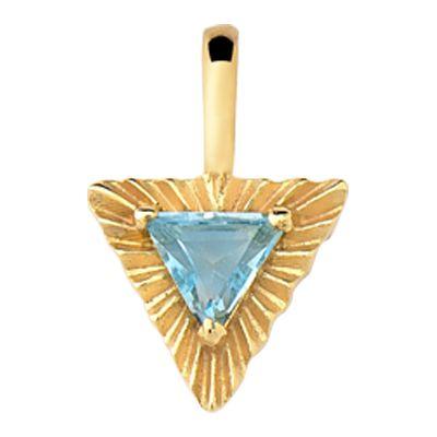 Pingente Triangulo em Ouro amarelo 18k com Topázio