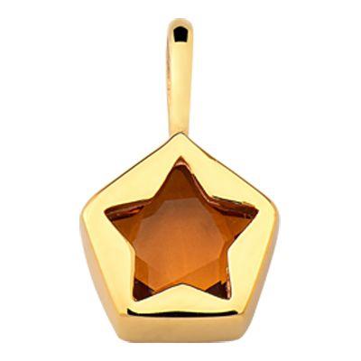 312e36ebaf5c5 Pingente Estrela em Ouro 18k com Citrino - RS Metais Joias