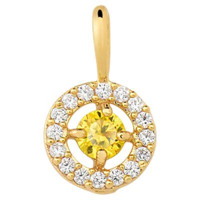 Pingente em Ouro Amarelo 18k-750 com Diamante amarelo