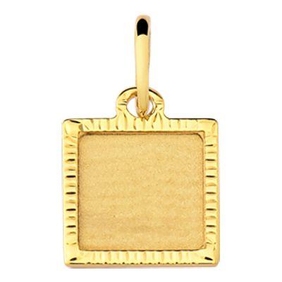 Pingente Chapa em Ouro Amarelo 18k-750