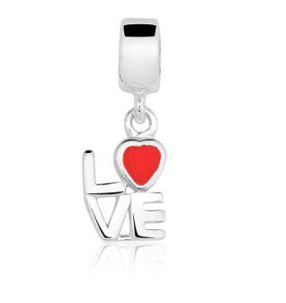 Berloque Love em Prata 925