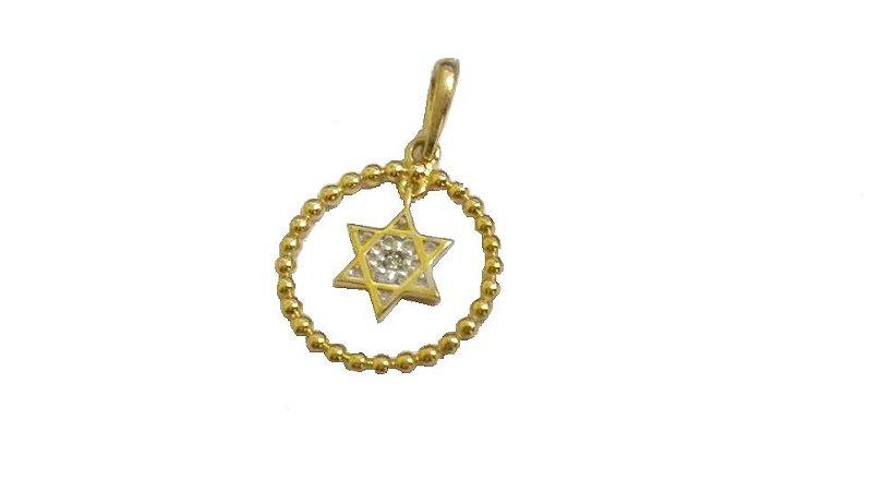 a4d18ba2aea42 Pingente Estrela de Davi em Ouro 18k - RS Metais Joias