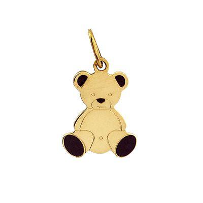 Pingente Urso em Ouro amarelo 18k