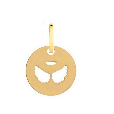 Medalha Asa De Anjo Vazado em Ouro 18k