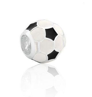 Berloque Bola de Futebol em Prata 925 com resina