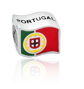 Berloque Portugal em Prata 925