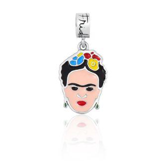Berloque Rosto Frida Kahlo em prata 925