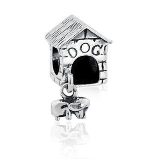 Berloque Casinha de cachorro em Prata 925
