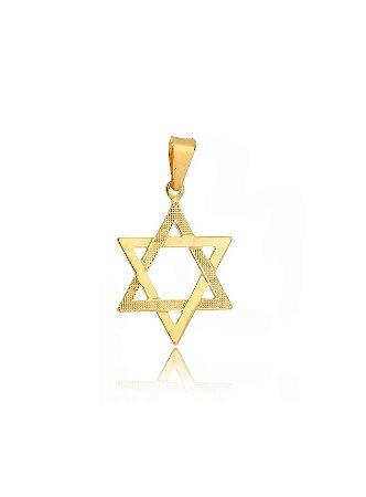 10e2bc8cab842 Pingente Estrela De Davi Banhado Em Ouro Amarelo 18k - RS Metais Joias