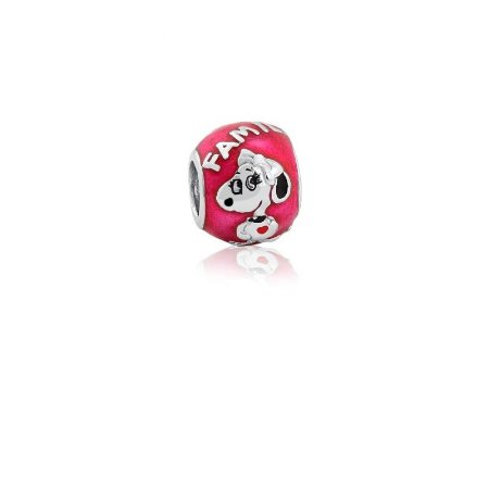 Berloque Separador Snoopy Em Prata 925 Com Ródio e Resina