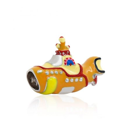 Berloque Yellow Submarino The Beatles Em Prata 925 Com Ródio e Resina