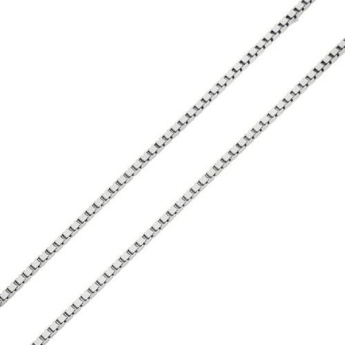 Corrente Veneziana em Ouro Branco 18k com 40 cm