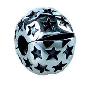Berloque Trava com Estrelas  em Prata 925 - Linha Dreams