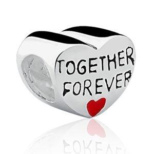 Berloque Coração Together Forever em Prata 925 - Linha Dreams