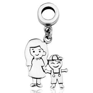 Berloque Mãe e Filho em Prata 925 e ródio - Linha Dreams
