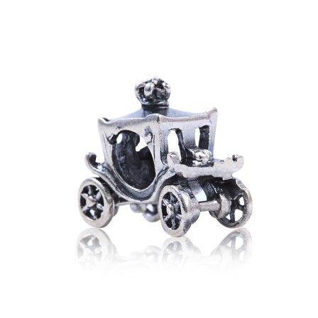 Berloque Carruagem Antiga em Prata Envelhecida 925 - Linha Dreams